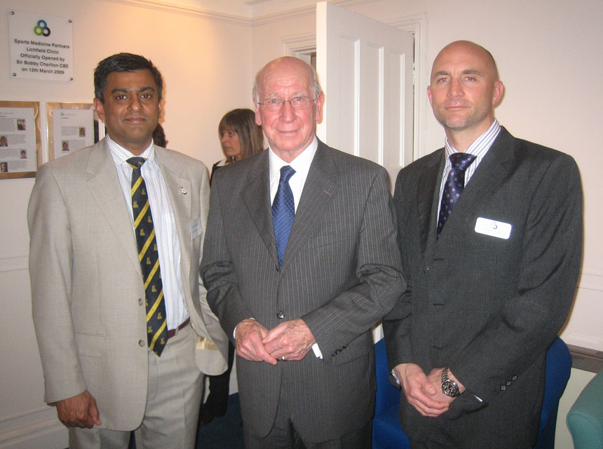 Mr Pimpalnerkar with Bobby Charlton