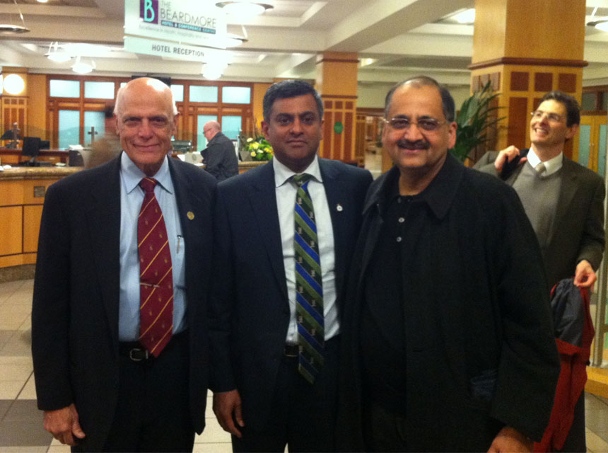 Mr Pimpalnerkar with Professor S Marwa (India) and C Renawat (USA)