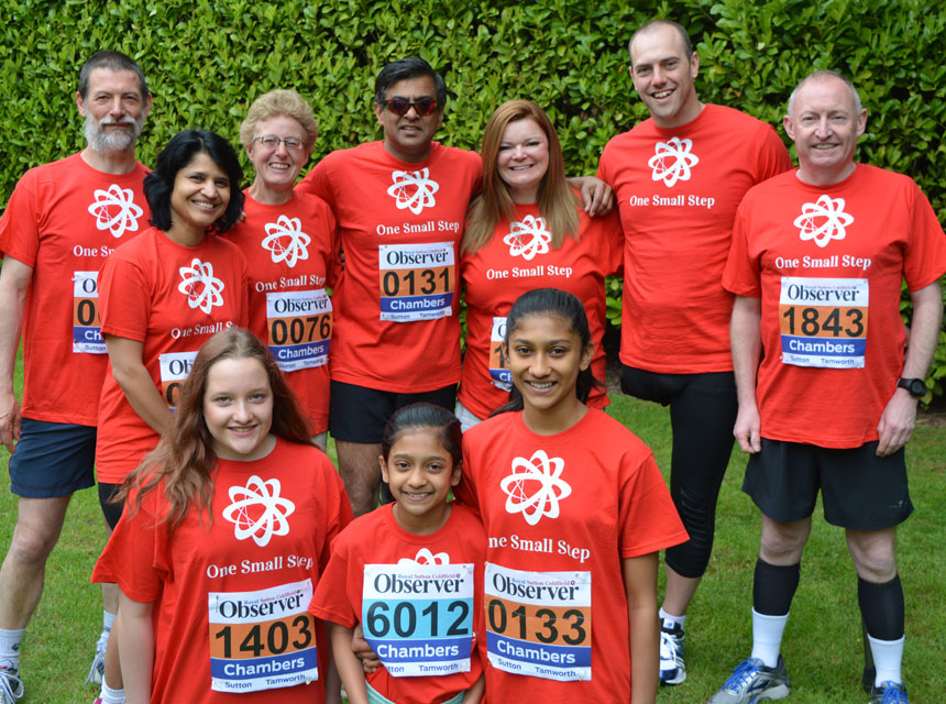 Mr Pimpalnerkar taking part in the Sutton Fun Run in 2016