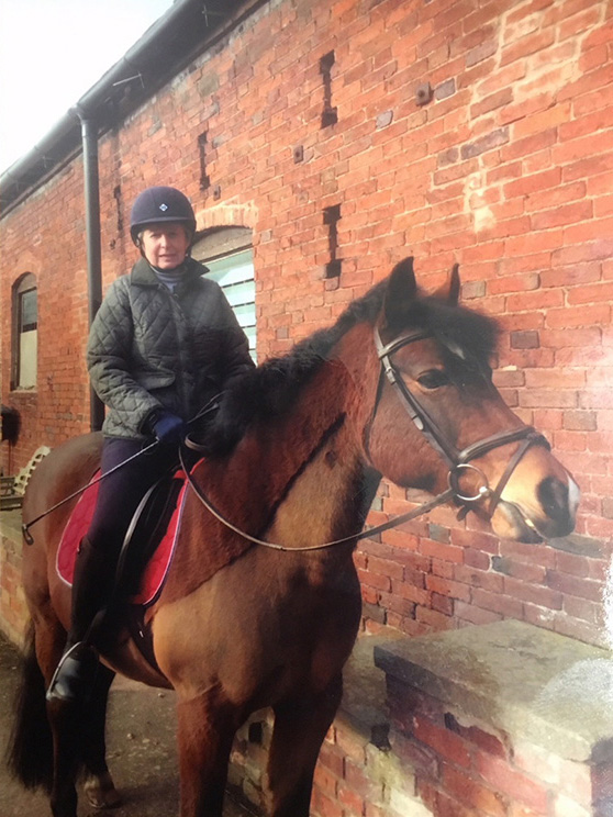 Gillian Brooks back on her horse